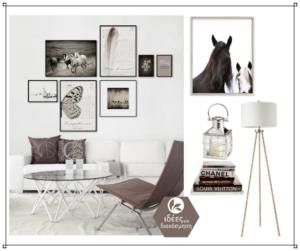 Η σωστή διάταξη για πίνακες και κάδρα πάνω από τον τοίχο του καναπέ σας!