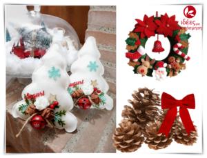 Χριστουγεννιάτικες δημιουργίες από τσόχα και ύφασμα!