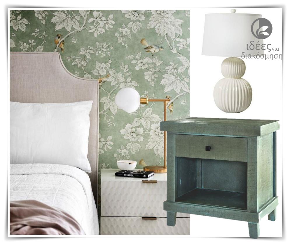 Floral,ταπετσαρίες τοίχου για την διακόσμηση στο υπνοδωμάτιο!