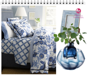 Στρώστε λευκά και μπλε σεντόνια στο υπνοδωμάτιο σας!