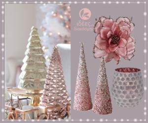 Χριστουγεννιάτικη διακόσμηση μέσα από την χρωματική παλέτα του Ρόζ!