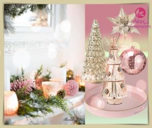 Χριστουγεννιάτικη διακόσμηση με τα παραμυθένιο golden rose χρώμα!