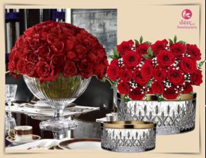 Διακόσμηση για την γιορτή του Αγ. Βαλεντίνου με κρύσταλλα και λουλούδια!