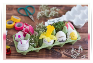 Πασχαλινές διακοσμητικές προτάσεις με χάρτινες θήκες αυγών!