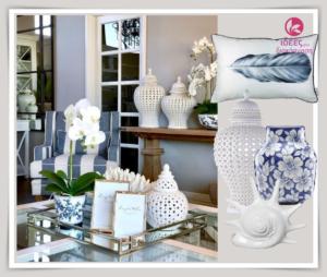 Διακόσμηση στο μπλε και λευκό χρώμα(bleu-white decor)!